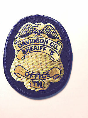 Unused Tennessee Police Patches  Davidson County Sheriff Police Dept