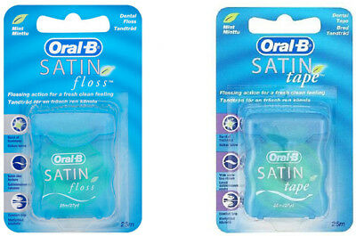 Oral B Satin Tape / Satin Floss Mint 25m (Choose Multi-Size)