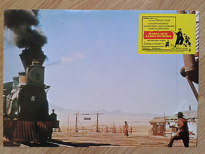 ONCE UPON A TIME IN THE WEST Sergio Leone - rare Spanish LC #2 CARDINALE / FONDA