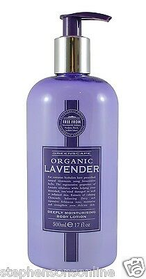 Greenscape Organic LAVENDER Natural Deeply Moisturising Hand & Body Lotion 500ml