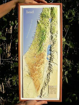 LARGE 3D HOLY LAND MAP Topography Jewish Christian Bible Jesus New Old Testament
