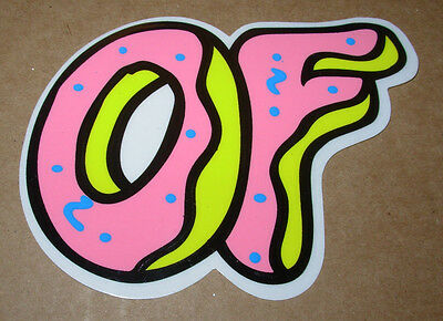 ODD FUTURE OFWGKTA Sticker DONUT OF BAND LOGO decal New TYLER THE CREATOR