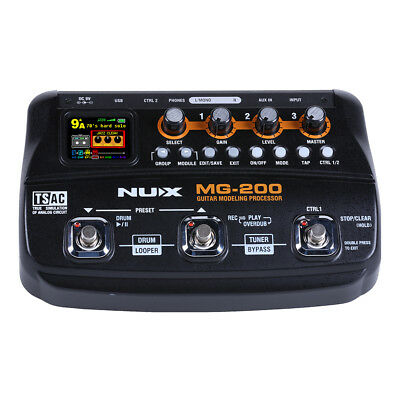 NuX MG200 Guitar Modelling Effects Processor Pedal - New