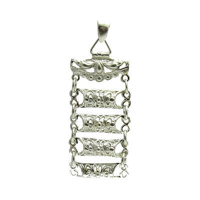 Sterling Silver Vintage Pendant Solid 925 Pe000998