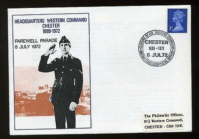 1972 Military Thematic Cover Chester Western Command BFPS 1299