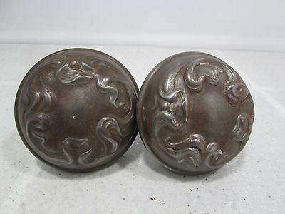 2 Vintage Art Noveau Metal Door Knobs #2 • CAD $37.79