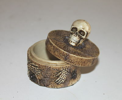 Trinket Box with Skull on Top, a Weirdly Bizarre Useful Present & Gift Stash Pot