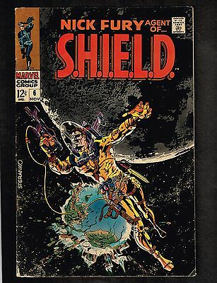 Nick Fury, Agent of S.H.I.E.L.D. #6 ~ Classic Cover  ~ 1968 (6.0) WH