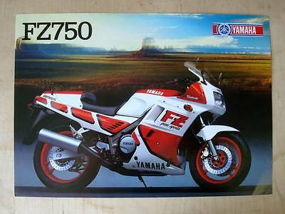 YAMAHA FZ750 - Motorcycle Sales/Specifications Sheet - 1987 - #0107922