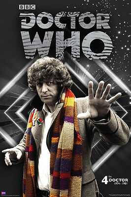 NEW Dr Who BBC 4th Doctor Tom Baker 1974 - 1981 Wall Poster 61 x 91