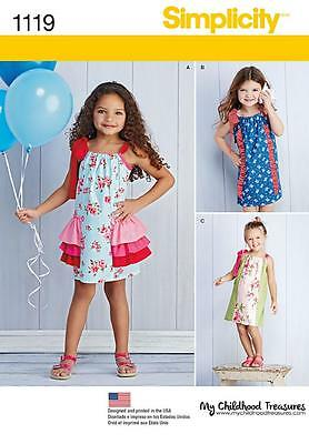 Simplicity Sewing Pattern Child's Dresses Sizes 3 - 8 1119