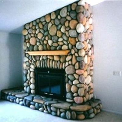 12 RIVER ROCK MOULDS #OOR-04 MAKE 1000s OF CEMENT STONES FOR FIREPLACES & WALLS