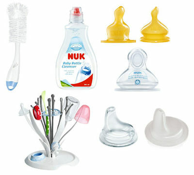 Nuk Bottle Accessories (All Teats, Spout, Bottle, Teat Brush, Bottle Cleanser)