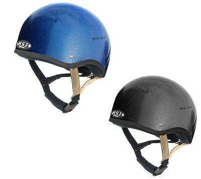 Gatehouse HS1 Jockey Skull Cap Special Edition Gloss Blue or Black Choose Size