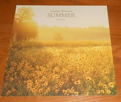 George Winston Summer Solo Piano Poster 2-Sided Flat Square Vintage Promo 12x12