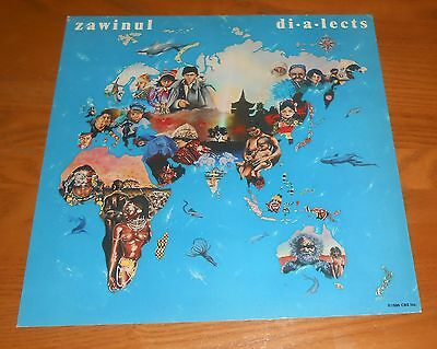 Zawinul Dialects Poster 2-Sided Flat Square 1986 Promo 12x12 RARE