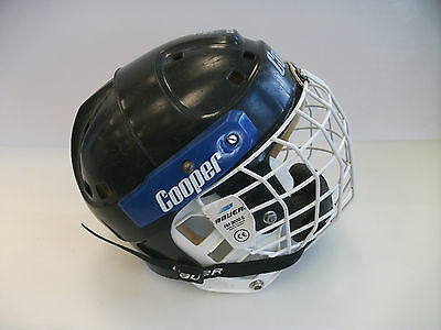 Vtg Cooper SK2000 hockey helmet small with cage FM 3000 S cage sz senior mask