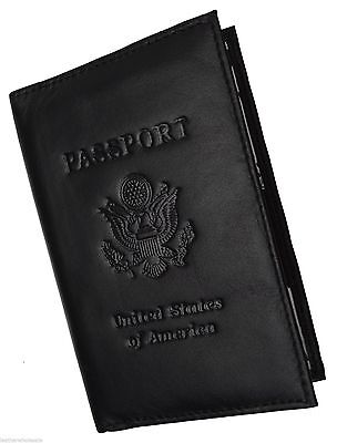 New USA Leather Passport cover Credit ATM Card holder passport / card case bnwt*