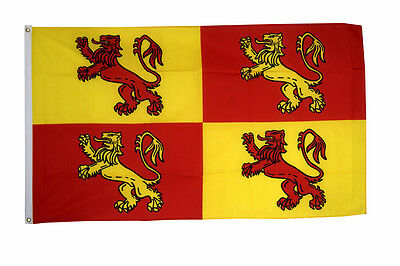 Owain Glyndwr Flag Large 5 x 3 FT - 100% Polyester - Welsh Wales Royal