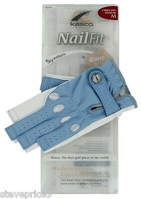 Kasco Ladies Sky Blue Nail Fit Golf Glove. Medium.