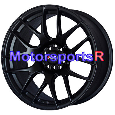 17 x 8.25 XXR 530 Flat Black Wheels Rims Concave 5x114.3 06 14 15 Honda Civic SI