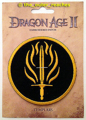 """BioWare's Dragon Age II Video Game Series TEMPLARS 3"""" Official Embroidered Patch"""