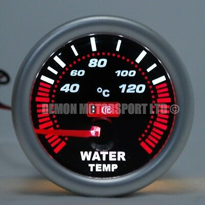 "52mm (2"") Smoked LED Water Temp Temprature Gauge - 120 deg C (Universal)"