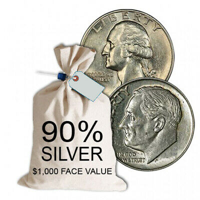90% Silver Coins $1,000 Face Value Bag