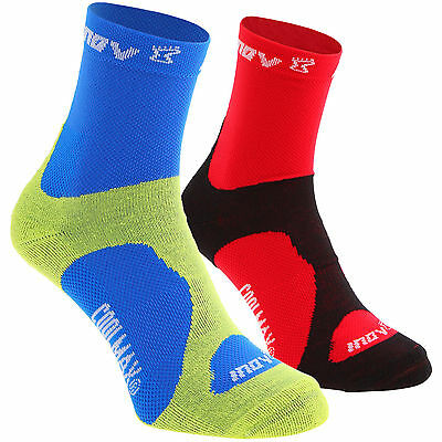 2 Pairs Inov-8 Prosoc COOLMAX Sports Running Socks Mens Ladies Inov8 RRP £12.99