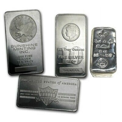 10 oz Republic Metals (RMC) Silver Bar .999 Fine Silver