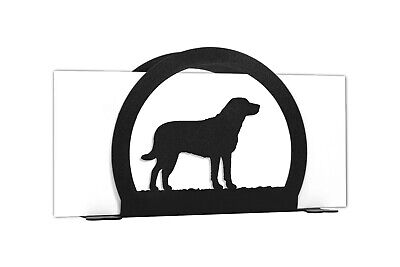 SWEN Products CHESAPEAKE BAY Dog Black Metal Letter Napkin Card Holder