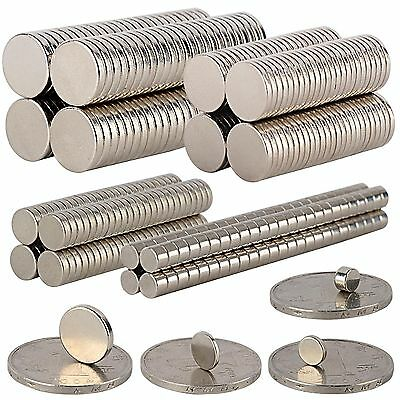 N35 Disc Aimants Magnet Neodyme Neodymium Cylindre Puissant Magnetique Bricolage