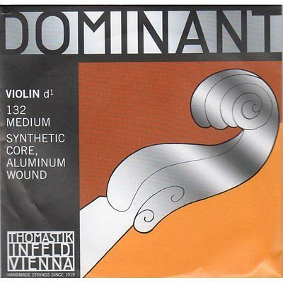 Dominant 4/4 Violin String - D - 132 Medium, Aluminium Wound