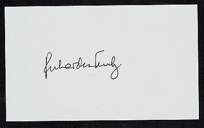 Richard Harrison Truly signed autograph auto 3x5 index card NASA Astronaut