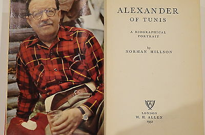 WW1 WW2 British Alexander of Tunis Biographical Portrait Reference Book
