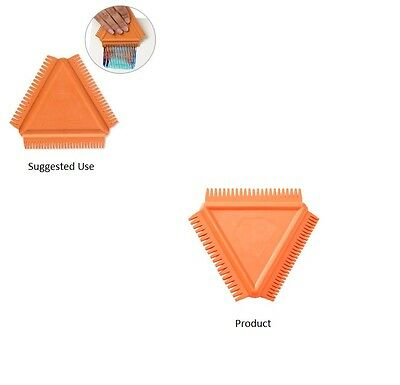 KEMPER TOOLS Texture Comb Rubber Orange 3-1/2 inch Triangle 3 Widths Paint Clay