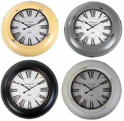 Wall Clock Vintage 60cm kitchen deco watch Living Room Nostalgic Railway Station
