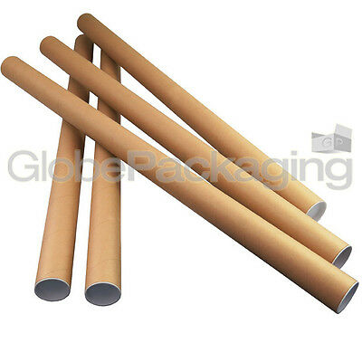5 x A0 Quality Postal Cardboard Poster Tubes Size 885mm x 50mm + End Caps