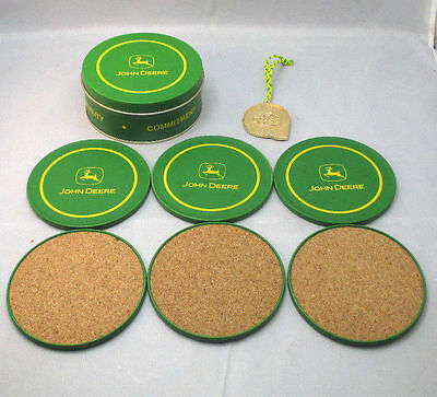 John Deere Tin Coasters With Medal Included ***