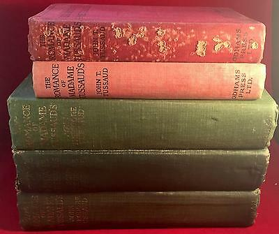 Lot Of 5 The Romance Of Madame Tussaud's Book John Tussaud 1920 1921 Wax Museum