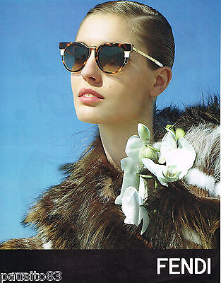 Publicite Lunettes Soleil Advertising 2011 Collection 105 Fendi wkZN8POXn0