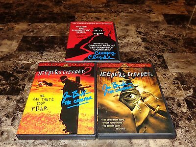 Jeepers Creepers 1 & 2 SIGNED DVD Lot Horror Movie Jonathan Breck The Creeper