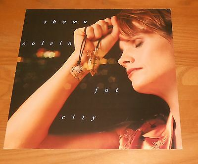 Shawn Colvin Fat City Poster 2-Sided Flat Square 1992 Promo 12x12