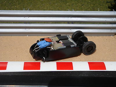 Mint Scalextric Motor With Chassis/guide And Wheels For Micro Velodrome Cycles