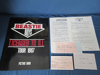Beastie Boys 1987 Japan Tour Book with Ticket Stub Concert Program