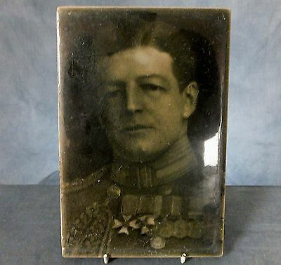 RARE LARGE WWI. TILE PLAQUE by J.H. BARRATT & Co. - ADMIRAL Sir DAVID BEATTY