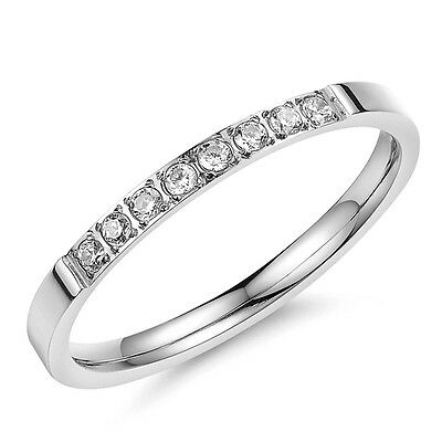 BD Stainless Steel Women Ring Silver Wedding Engagement Anniversary