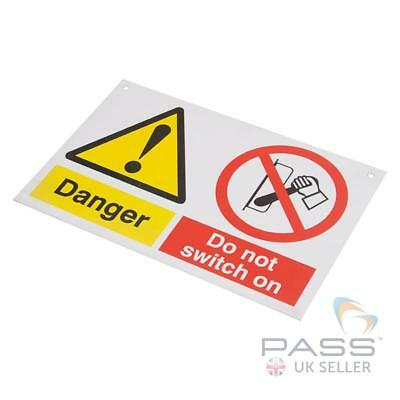 Lockout Tagout Sign - 'Do Not Switch On' - 150 x 225mm w/ Nylon Cord