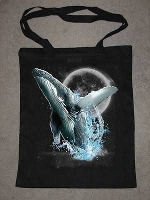 Whale / Whales Wilderness Design No 18256 Printed Tote Shopping Bag 100% Cotton