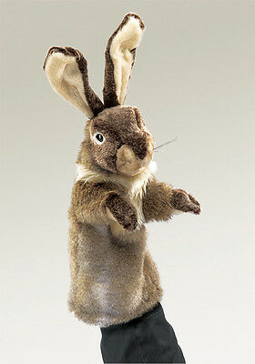 *NEW* PLUSH SOFT TOY Folkmanis 2800 Rabbit Stage Hand Puppet 35cm